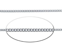 1.8 mm Sterling Silver Diamond Cut Curb Chain
