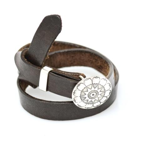 Universal Hearts Concheau Wrap Bracelet by Mary Laur