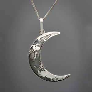 Crescent Moon Pendant by Mary Laur