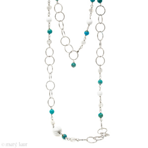 Turquoise Moonstone Chain