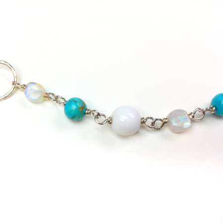 Turquoise Moonstone Chain