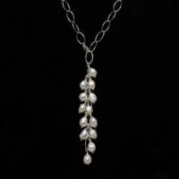 Handmade Y-Chain Baroque Pearl Necklace